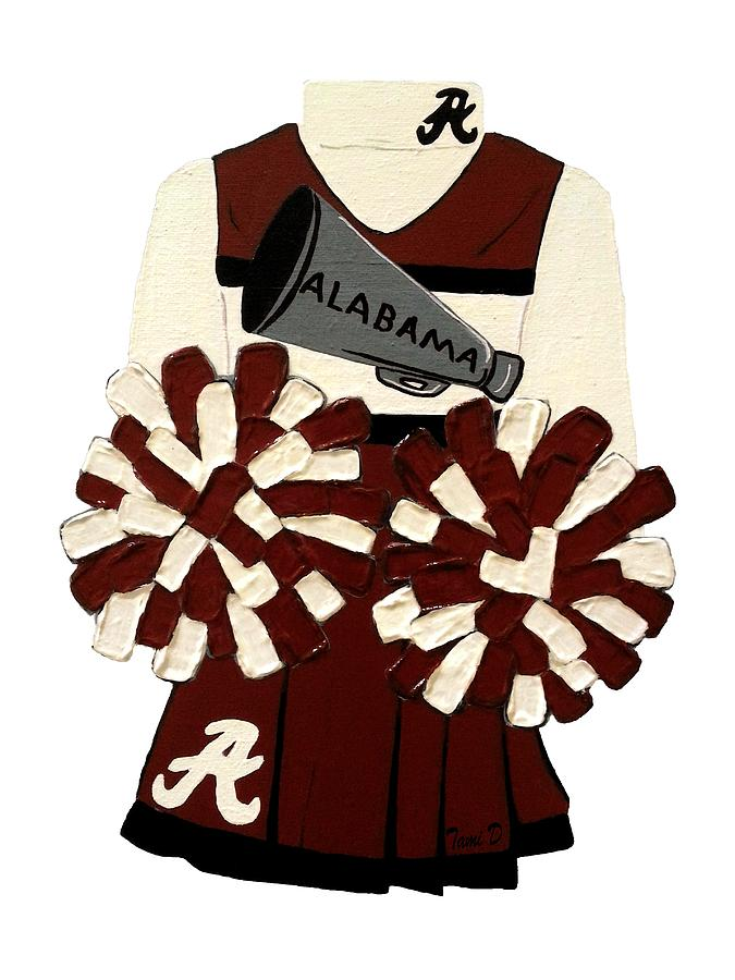 Alabama Painting - Alabama Cheerleader by Tami Dalton