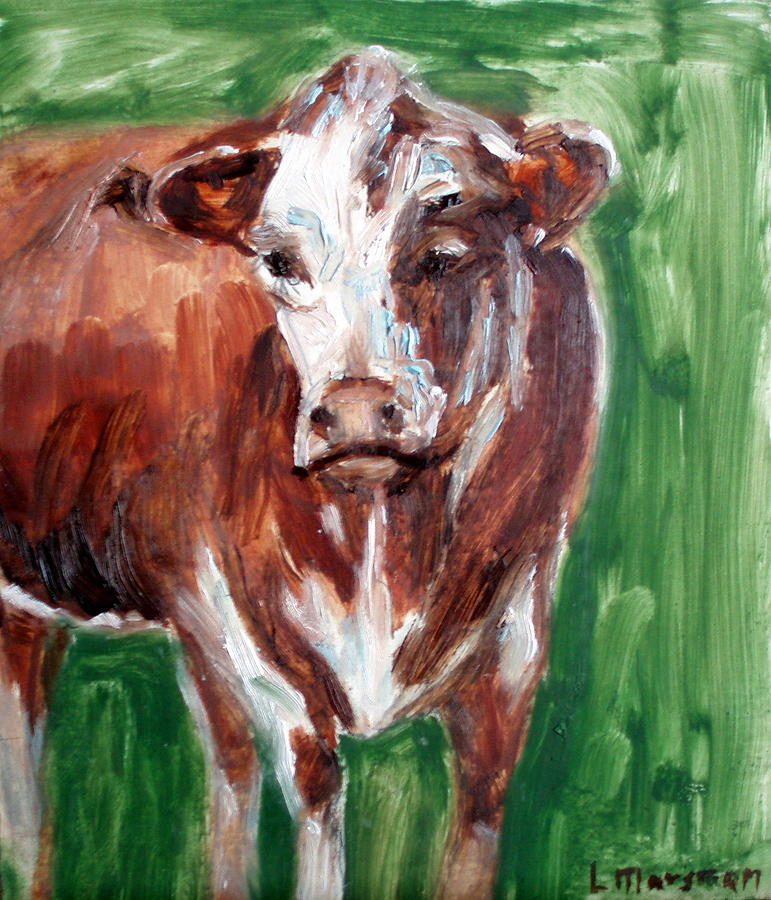 Animals Painting - Alabama Cow by Lia  Marsman