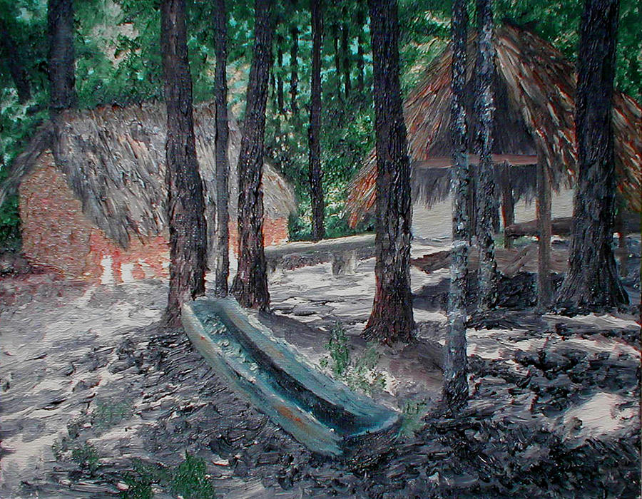 Indian Painting - Alabama Creek Indian Village by Beth Parrish