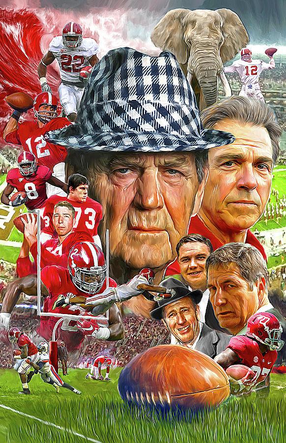 Alabama Football Painting - Alabama Crimson Tide by Mark Spears