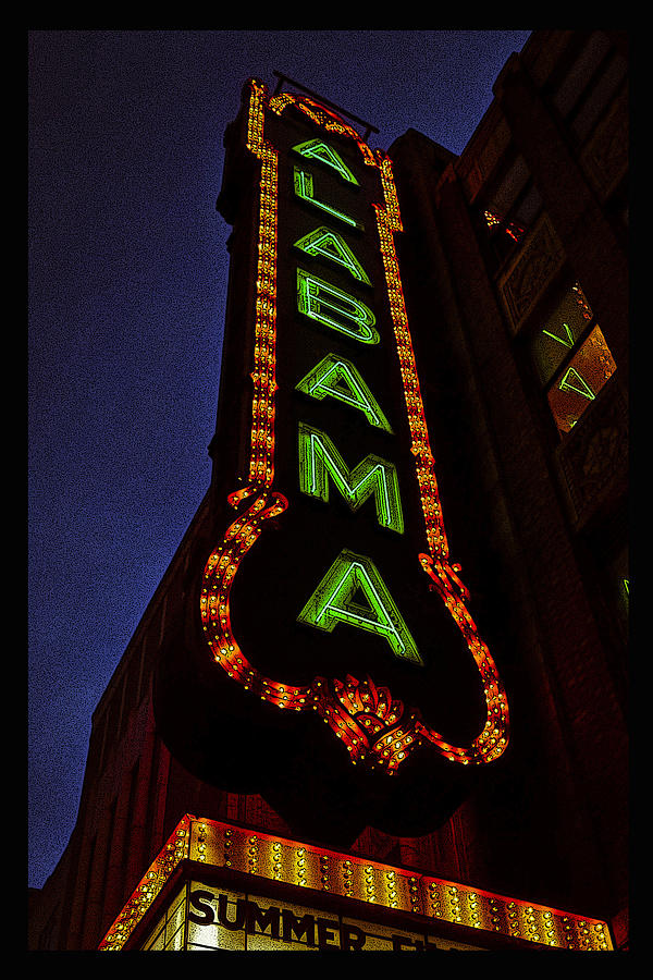 Alabama Lights Poster narrow format by Just Birmingham