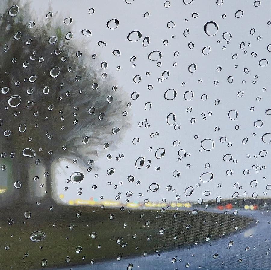 Raindrops Painting - Alabama Rain by Hunter Jay