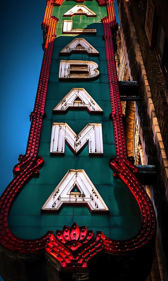Alabama Theater Photograph - Alabama Theater Sign 1 by Phillip Burrow