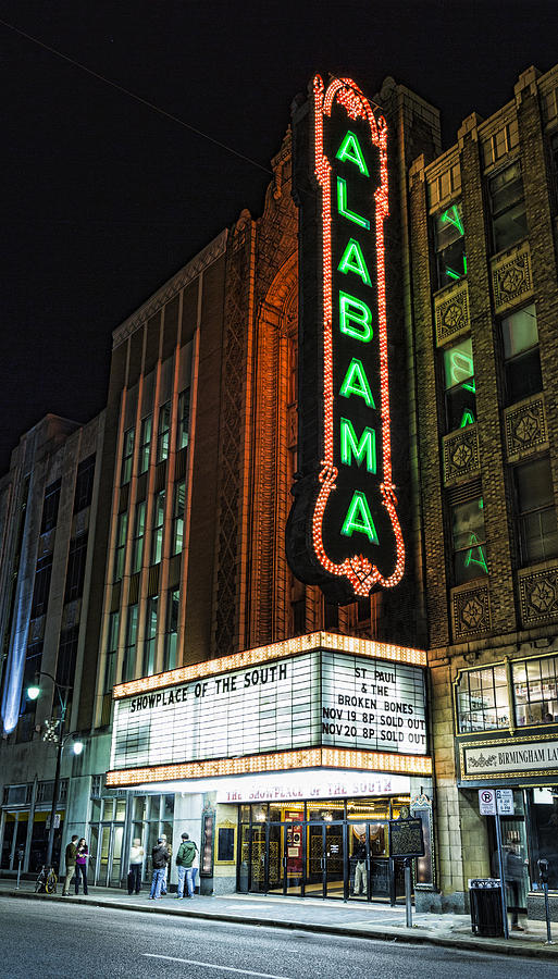 Alabama Photograph - Alabama Theater by Stephen Stookey