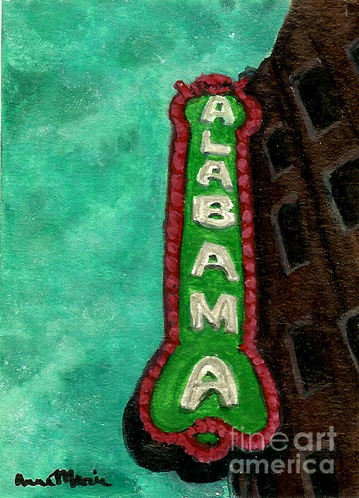Landmark Painting - Alabama Theatre by AnnaMarie Armstrong