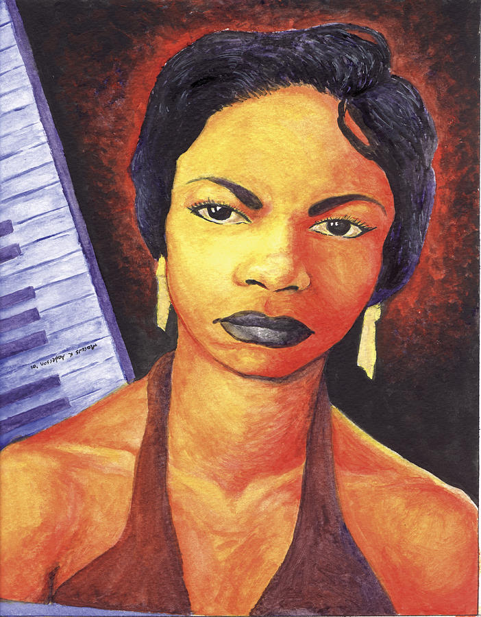 Nina Simone Painting - Alabamas Got Me So Upset by Marcus Anderson