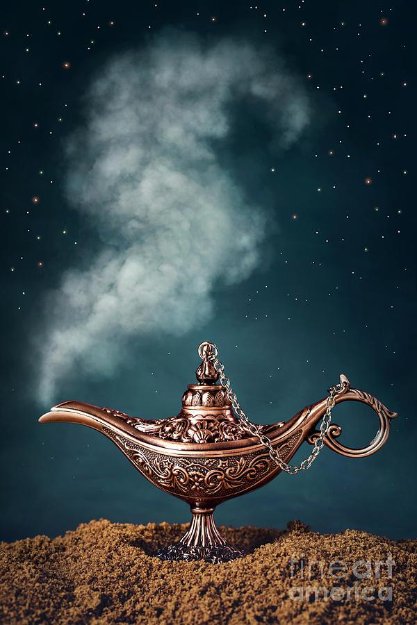 Aladdin Digital Art   Aladdin Magic Lamp By Elena Schweitzer