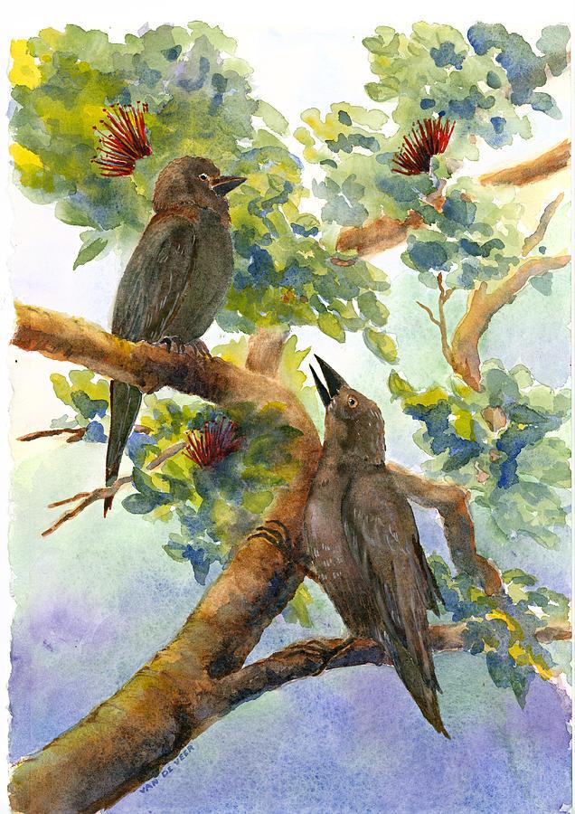 Hawaii Painting - alala by Wicki Van De Veer