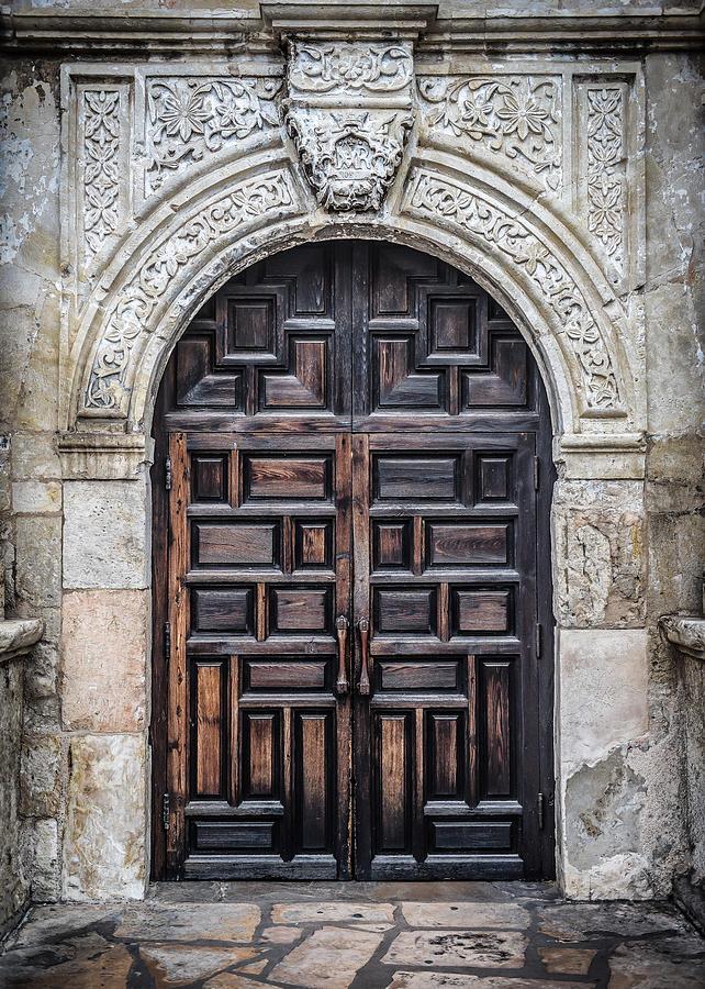 Alamo Photograph - Alamo Doors by David Downs & Alamo Doors Photograph by David Downs