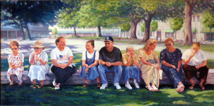 Pilgrims Painting - Alamo Pilgrims by Suzanne Berry