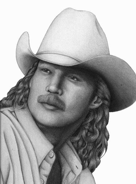 Portrait Drawing - Alan Jackson by David Rios