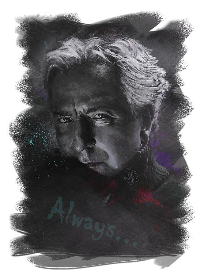 Actor Drawing - Alan Rickman by Julia Art