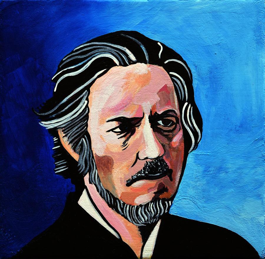 Alan Watts Painting - Alan Watts by Stephen Humphries