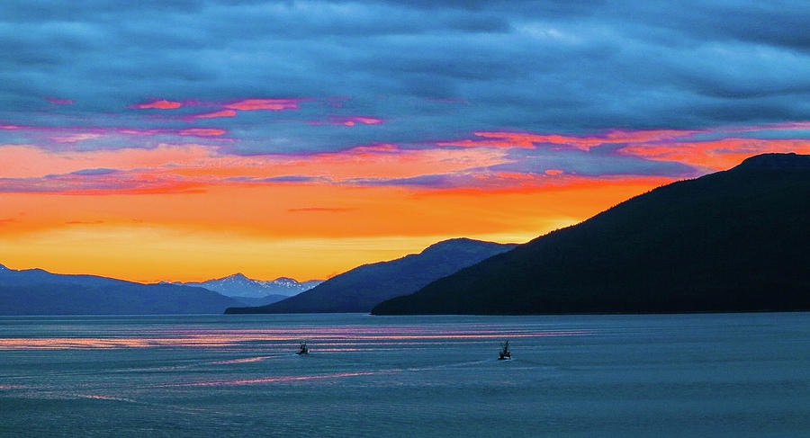 Sunset Photograph - Alaska Fishermans Sunset by Jason Brooks