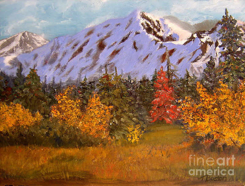 Landscape Painting - Alaska Highway Series No. 21 by Teresa Boston