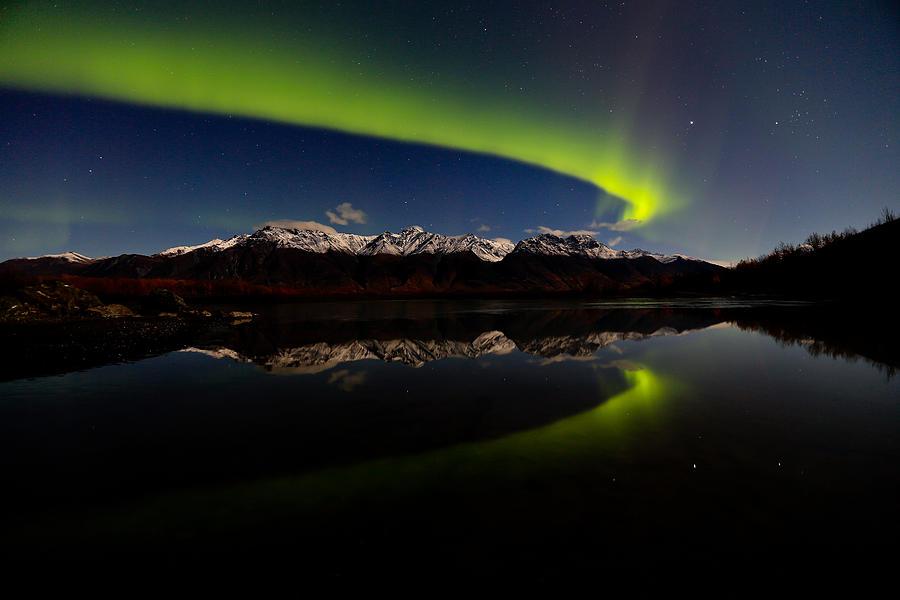 Landscape Photograph - Alaska Northern Lights by Sam Amato