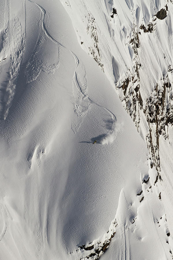 Alaska Skier by Mike Bachman