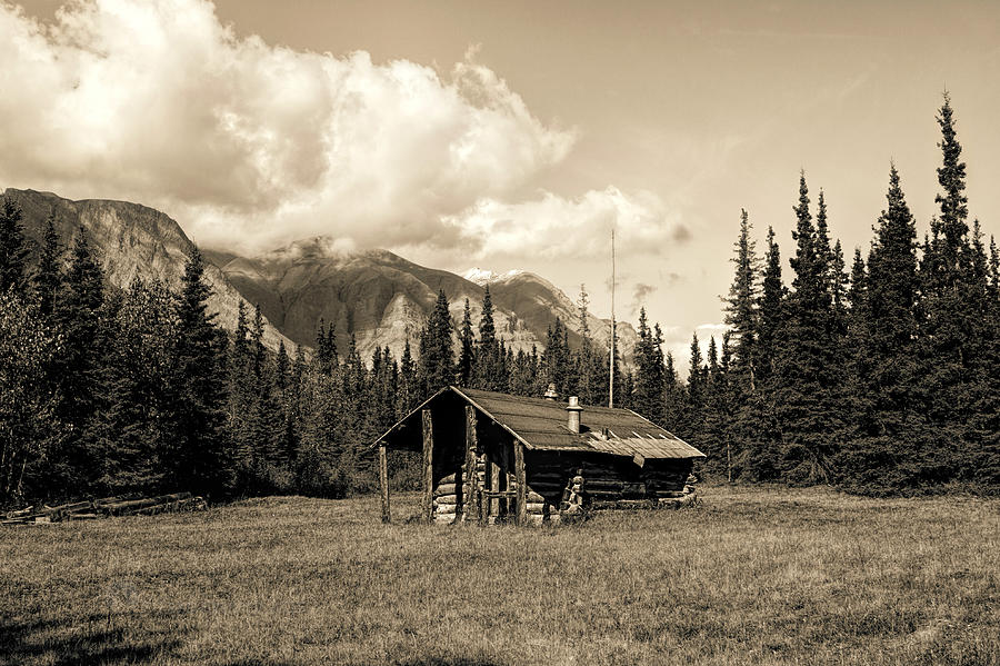 Alaska Trapper Cabin by Fred Denner