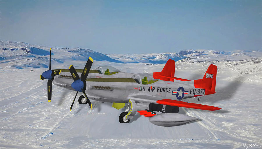 Alaskan Air Command Twin Mustang - Oil by Tommy Anderson