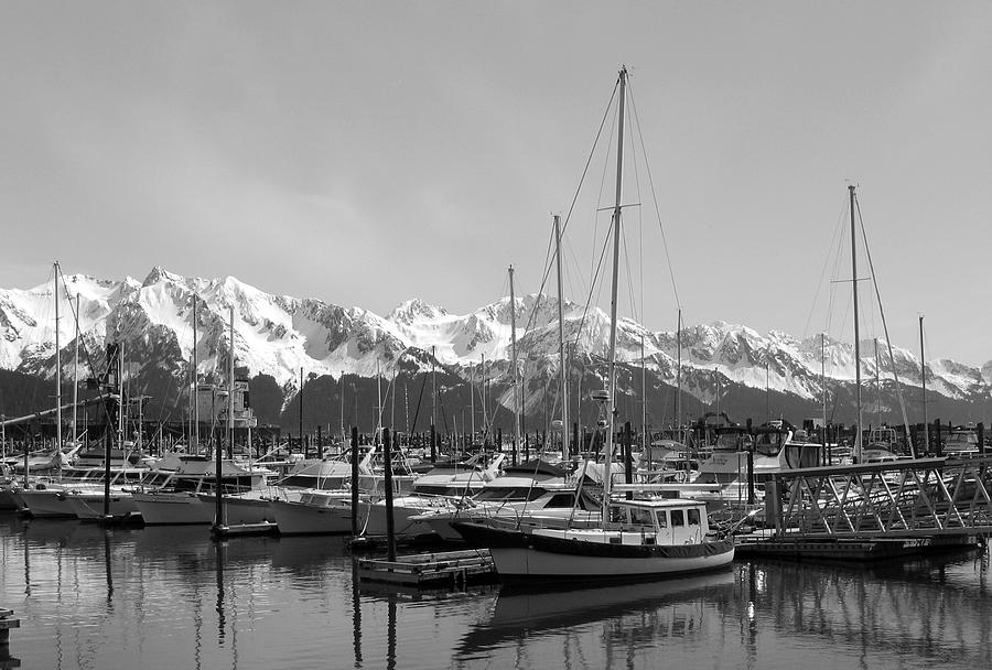 Black And White Photograph - Alaskan Harbor by Ty Nichols