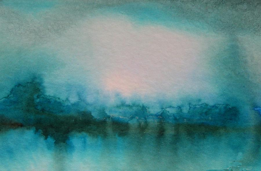 Water Painting - Alaskan Lake by Melody Horton Karandjeff