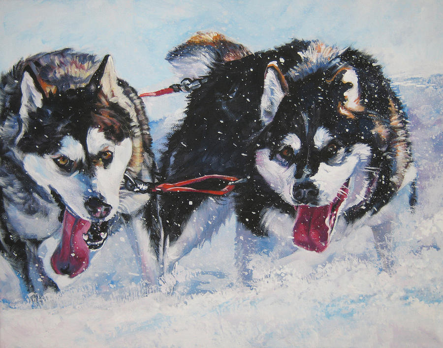 Dog Painting - Alaskan Malamute Strong And Steady by Lee Ann Shepard