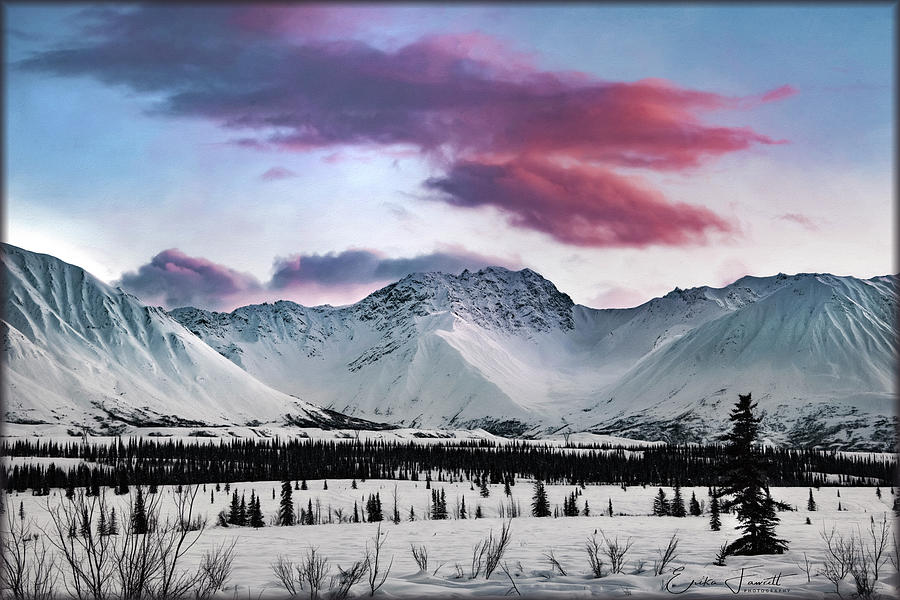 Sunset Photograph - Alaskan Range At Sunset by Erika Fawcett