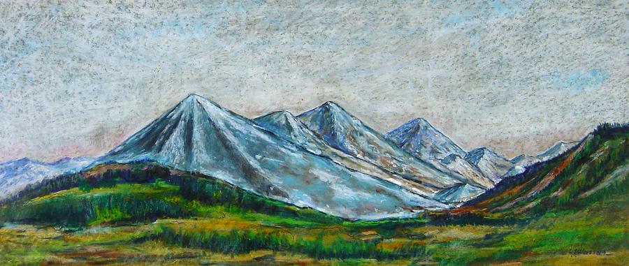 Landscape Pastel - Alaskan Ranges by Ujjagar Singh Wassan