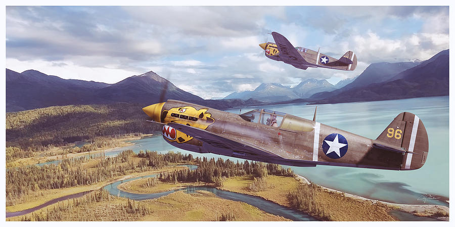 Aviation Digital Art - Alaskan Tigers by Craig Tinder