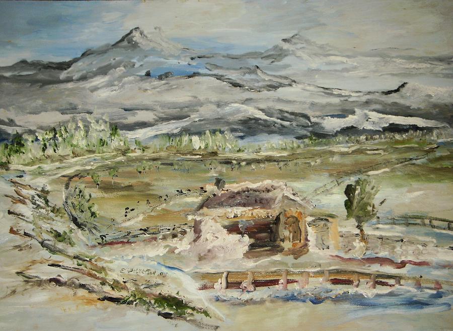 Landscape Painting - Alaskan Wilderness by Edward Wolverton