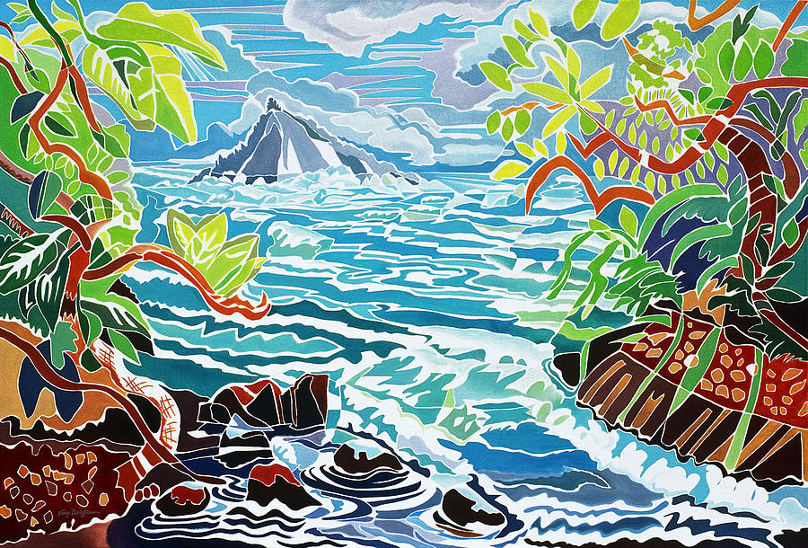 Art Medium Painting - Alau Island by Fay Biegun - Printscapes