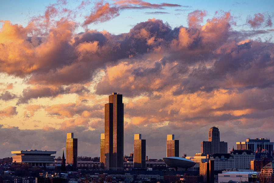 Albany Sunset Skyline by Brad Wenskoski