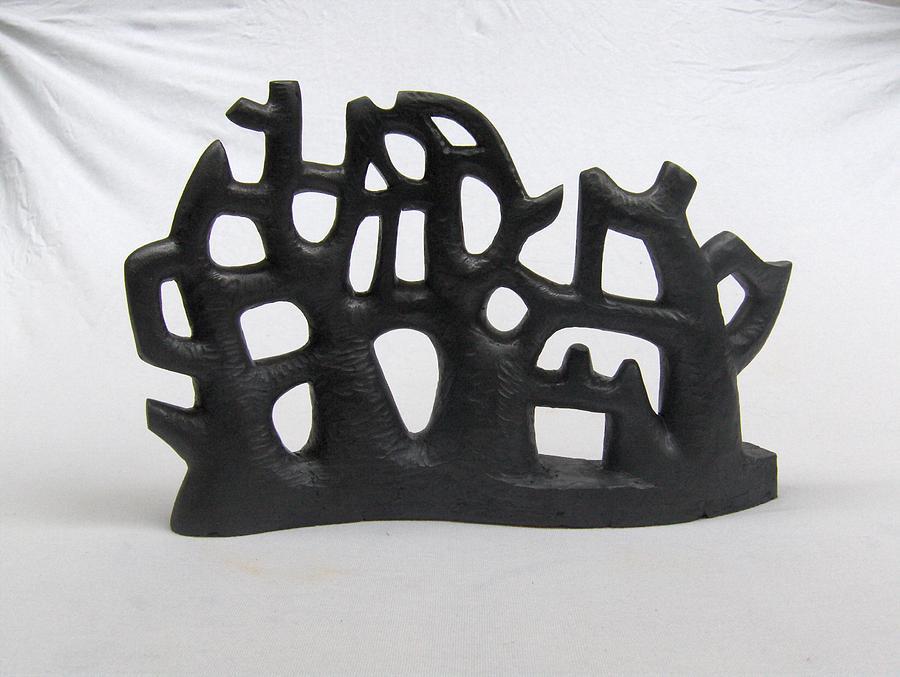 Terracotta Sculpture - Alberi 2 - Trees 2 by Francesca Bianconi
