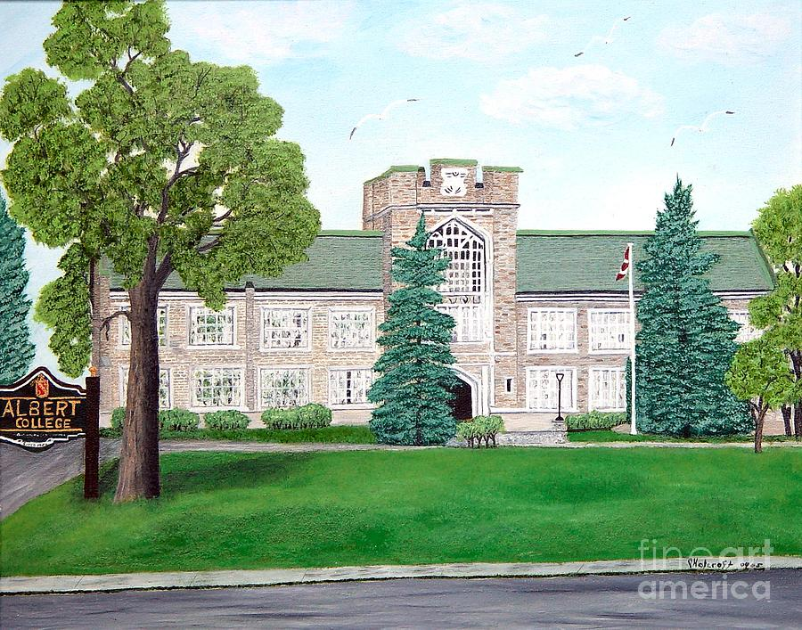 Albert College Painting by Peggy Holcroft