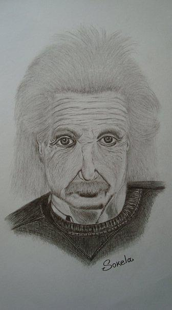 Albert Einstein Drawing by Alexandros Foltopoulos