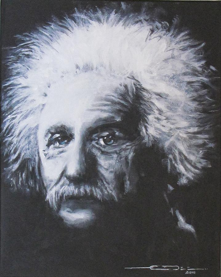 Albert Einstein Painting - Albert Einstein by Eric Dee