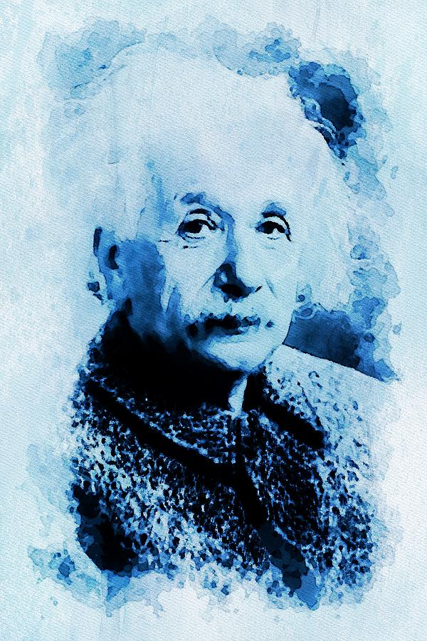 Albert Einstein in 1947 by Mustapha Dazi