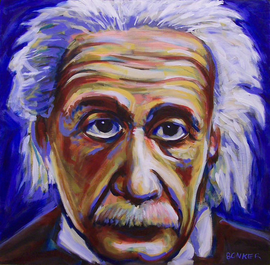 Albert Einstein Painting By Buffalo Bonker