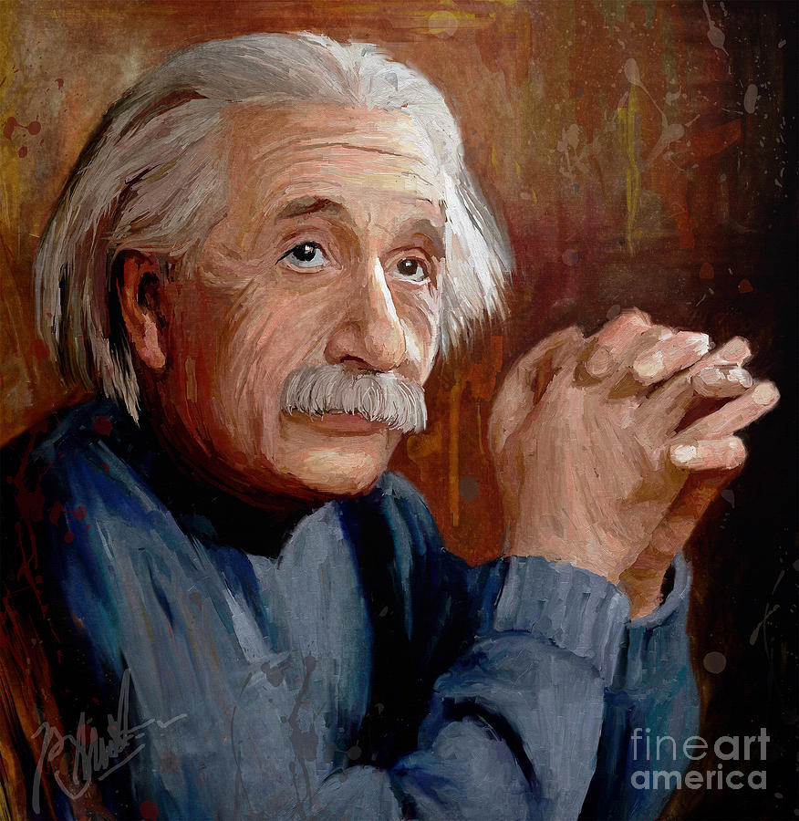 Albert Einstein Painting By Phaksi Rakasiwi