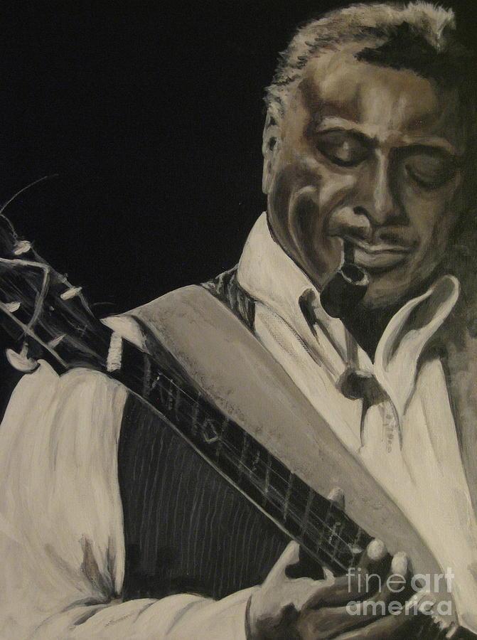 Guitar Painting - Albert King by Roberta Voss