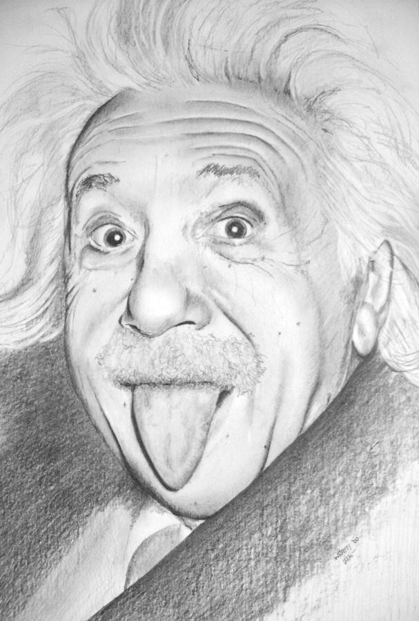 Albert Drawing by Wayne Ratti