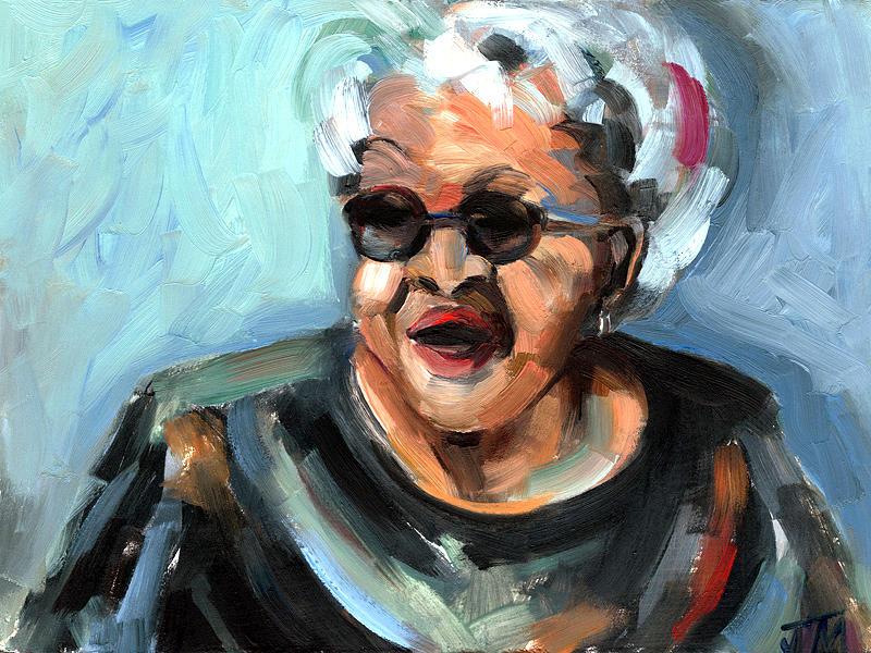 Portrait Painting - Alberta Adams by Jackie Merritt