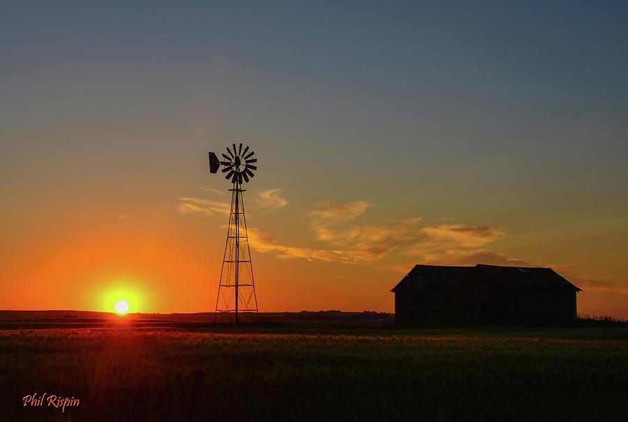 Alberta Prairie Sunset Photograph