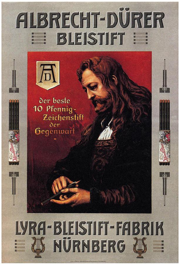Albrecht Durer - Bleistift- Pencils - Vintage Advertising Poster Mixed Media
