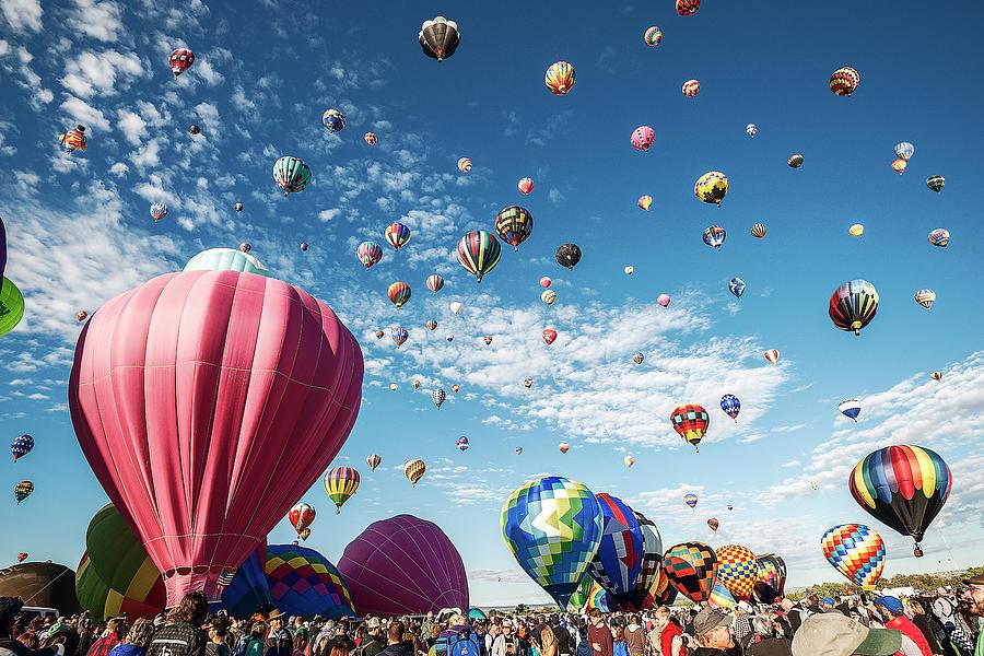 Albuquerque Balloon Fiesta Photograph - Albuquerque Balloon Fiesta by Scott Cordell