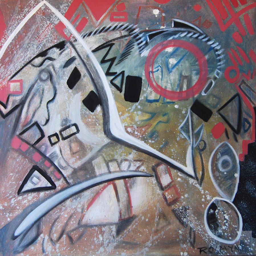 Abstract Painting - Albuquerque Two by Rosalyn Stevenson