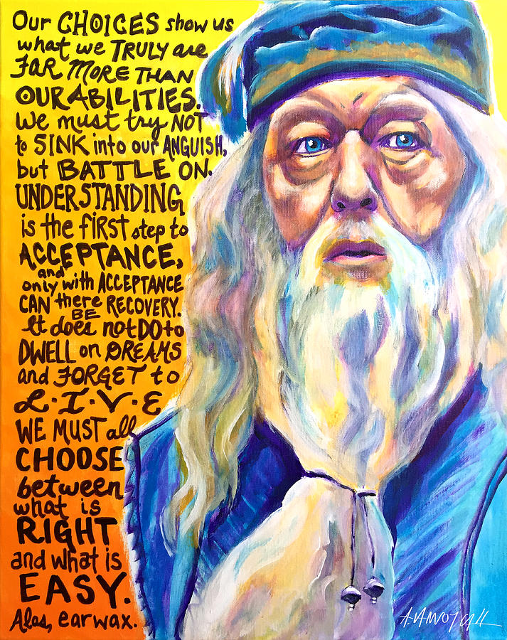 Quotables Painting - Albus by Alicia VanNoy Call
