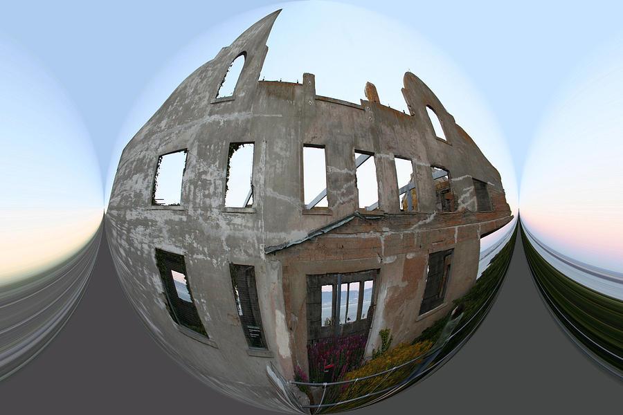 Alcatraz Digital Art - Alca Spherical by Holly Ethan