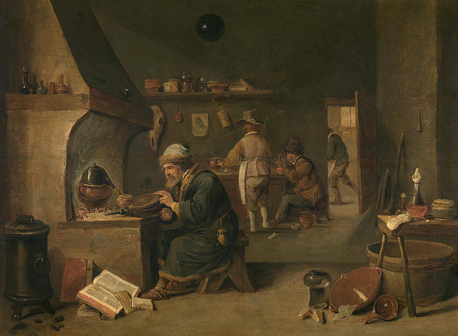Flemish Painters Painting - Alchemist by David Teniers the Younger