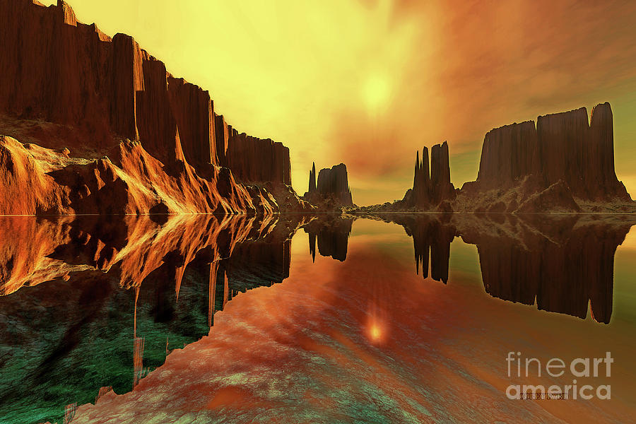 River Painting - Alchemy by Corey Ford